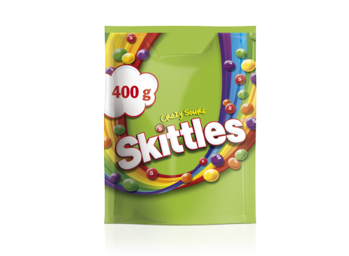 SKITTLES Crazy Sours pouch 10*400g