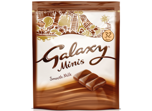 GALAXY Minis Chocolate 32pc 400g 9x1